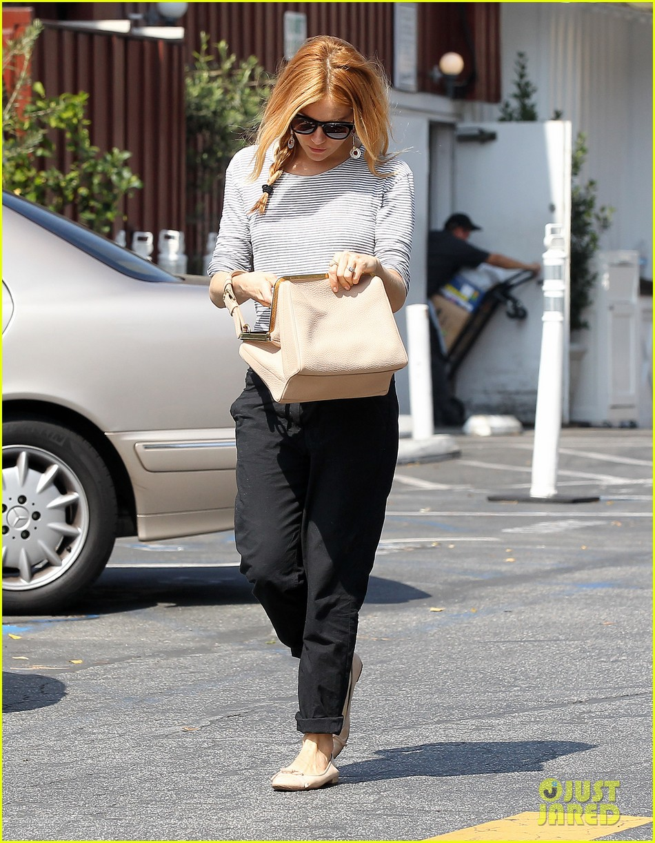 sienna miller sports red hair for busy beverly hills afternoon 053067744