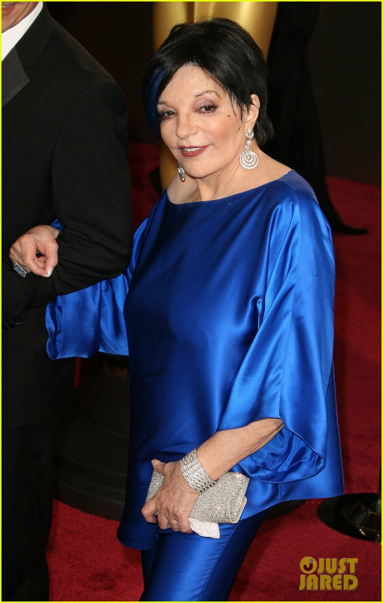 liza minnelli wears blue streak in hair at oscars 2014 10