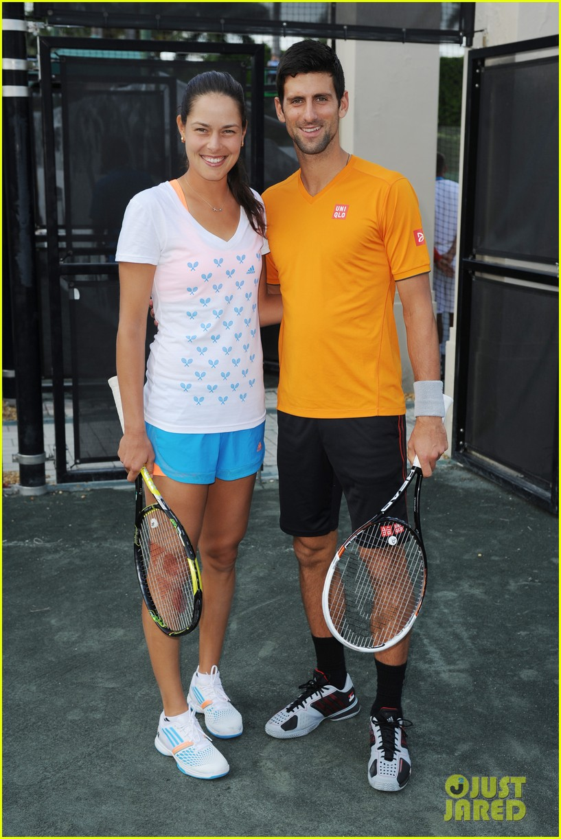 novak djokovich williams sisters play tennis for charity 063074827
