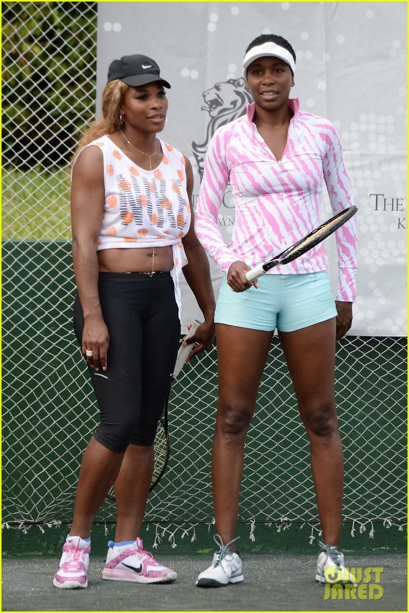 novak djokovich williams sisters play tennis for charity 283074849