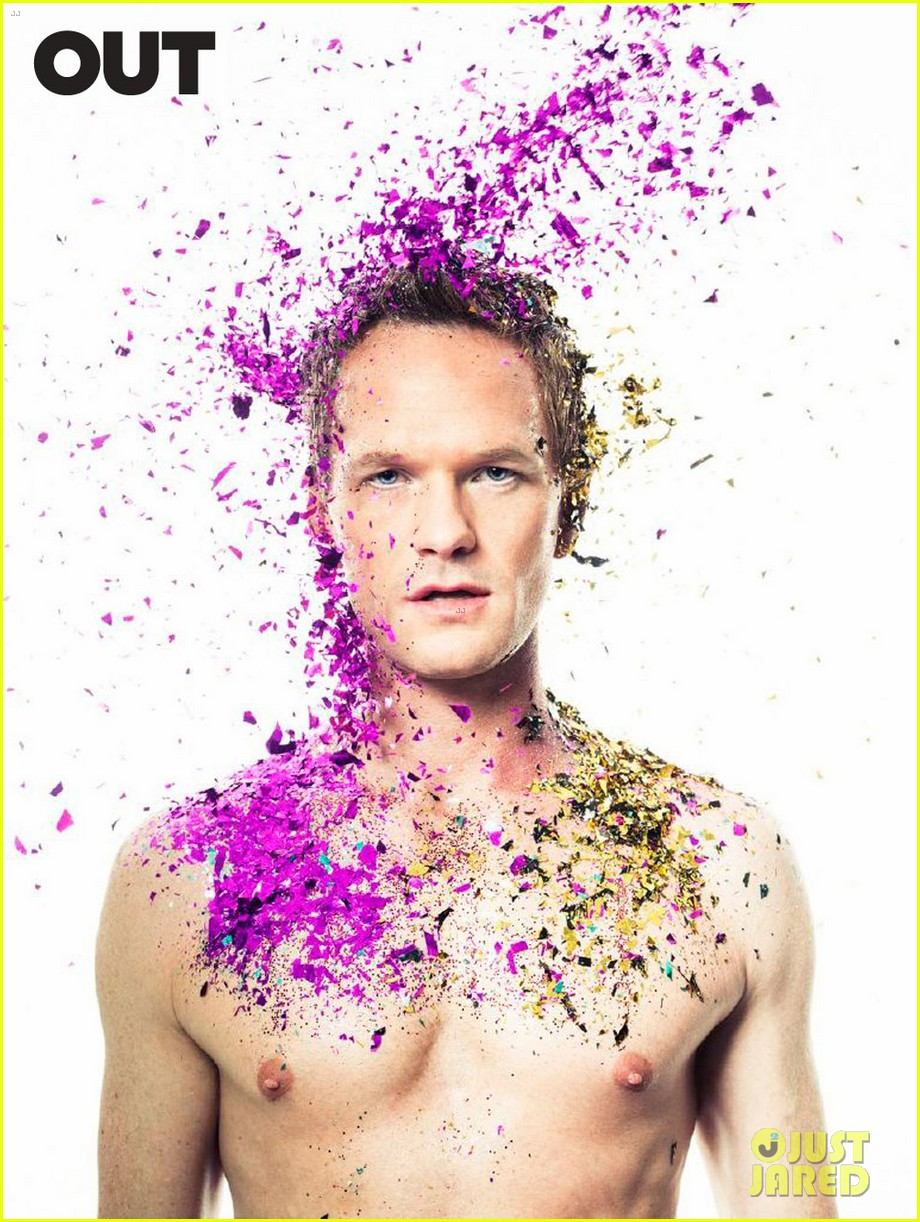 neil patrick harris shirtless glitter out 053069944