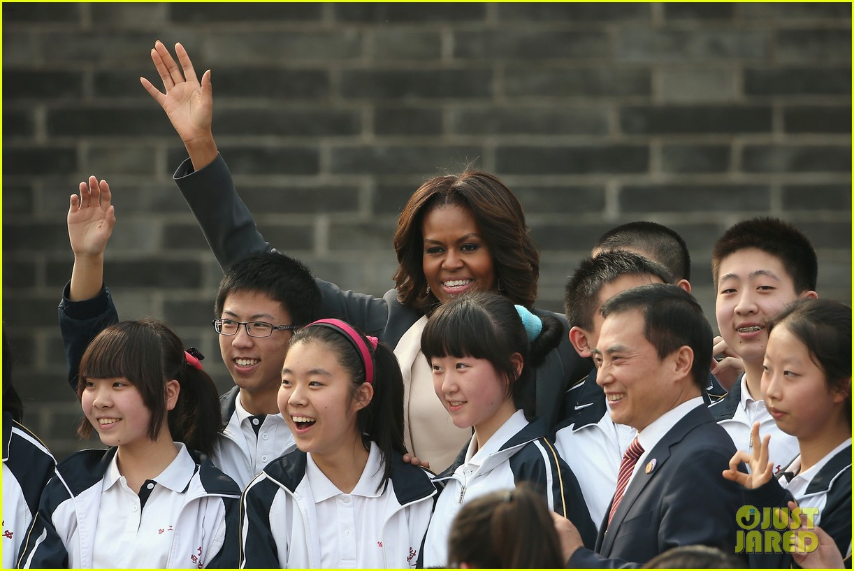 michelle obama jumps rope in china 123077931
