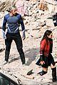elizabeth olsen aaron taylor johnson more action packed avengers 2 pics 14