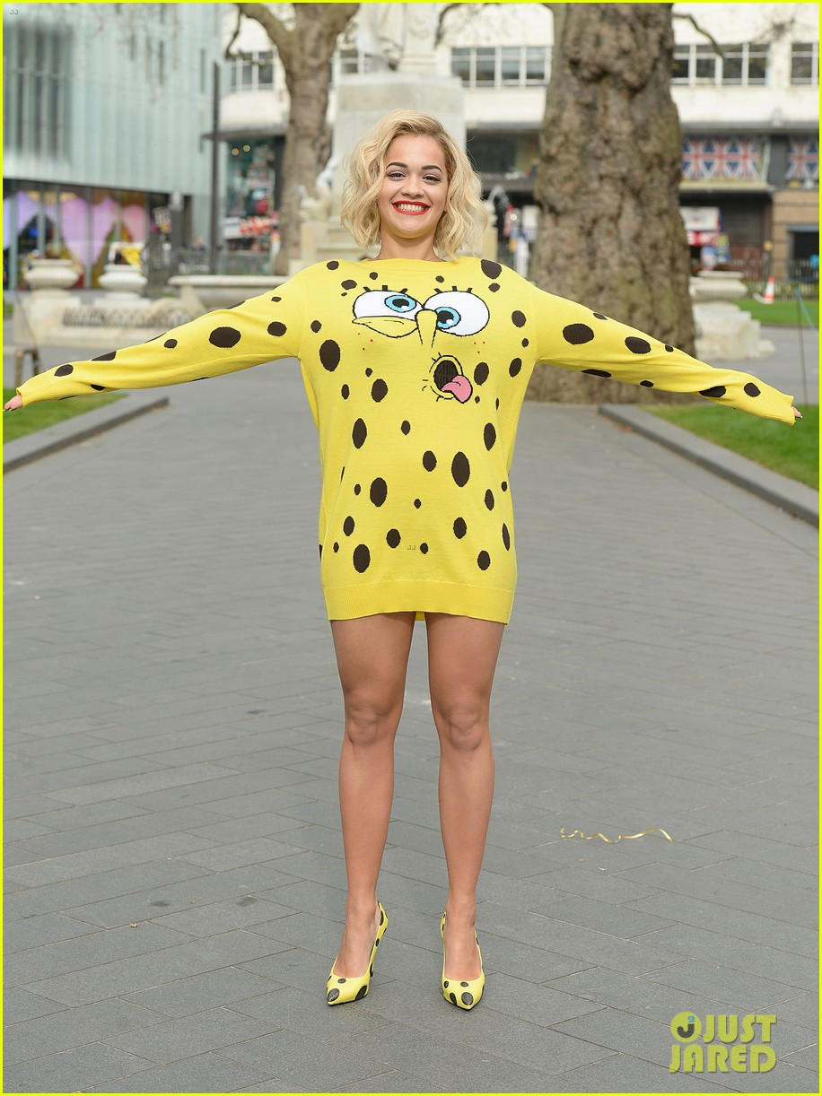rita ora premieres i will never let you down at bbc radio in spongebob squarepants outfit 083082098