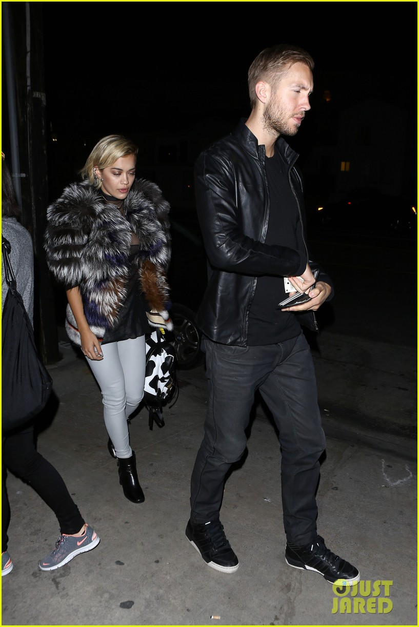 rita ora calvin harris share tender moment 123075716