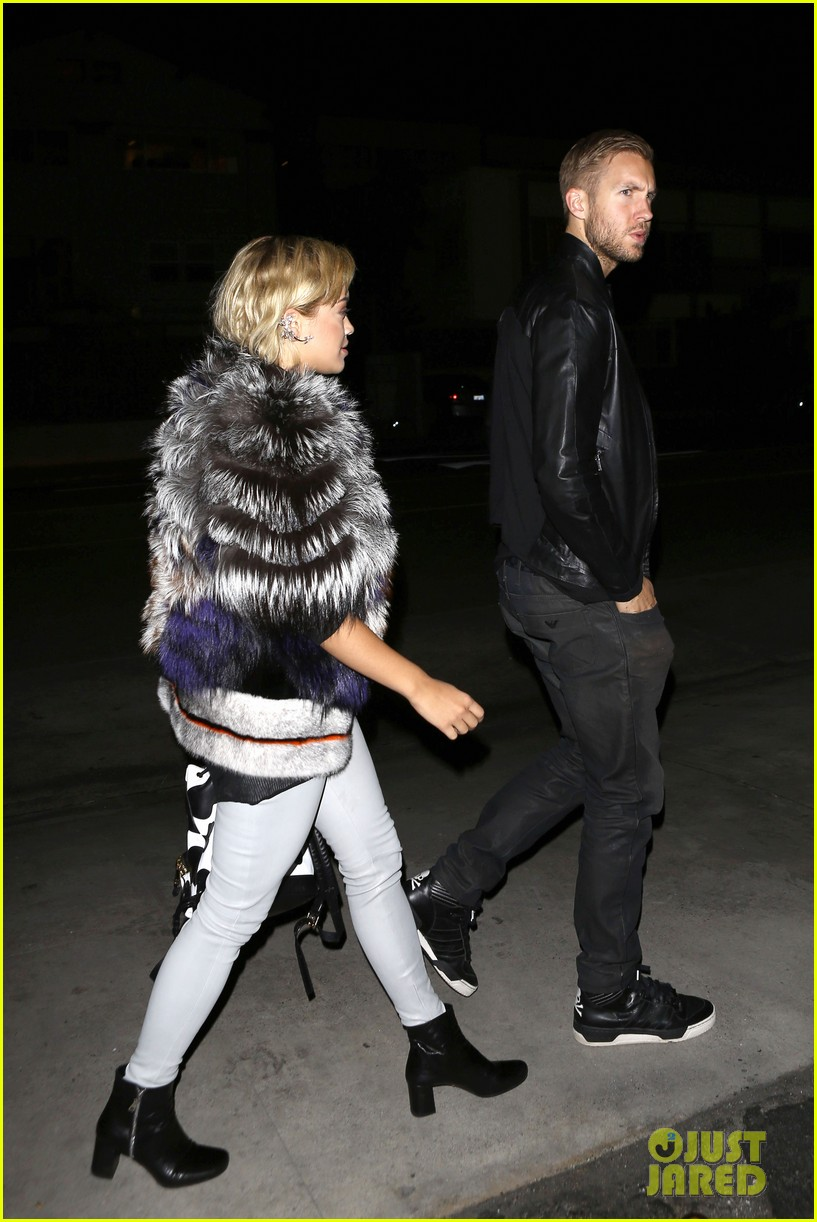 rita ora calvin harris share tender moment 15