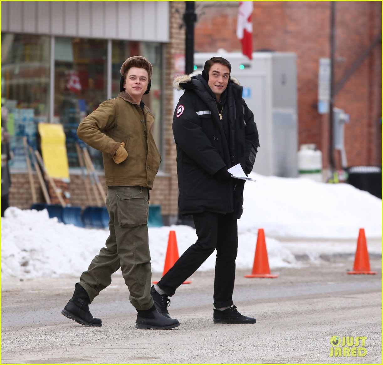 robert pattinson dane dehaan continue filming life in super cold canada 013065880