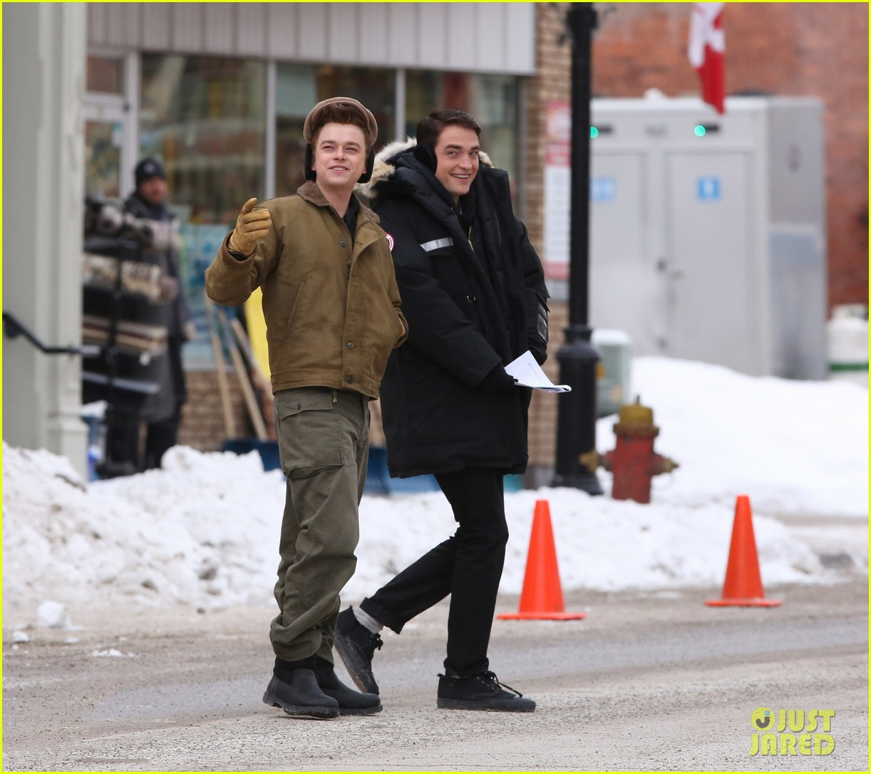 robert pattinson dane dehaan continue filming life in super cold canada 03