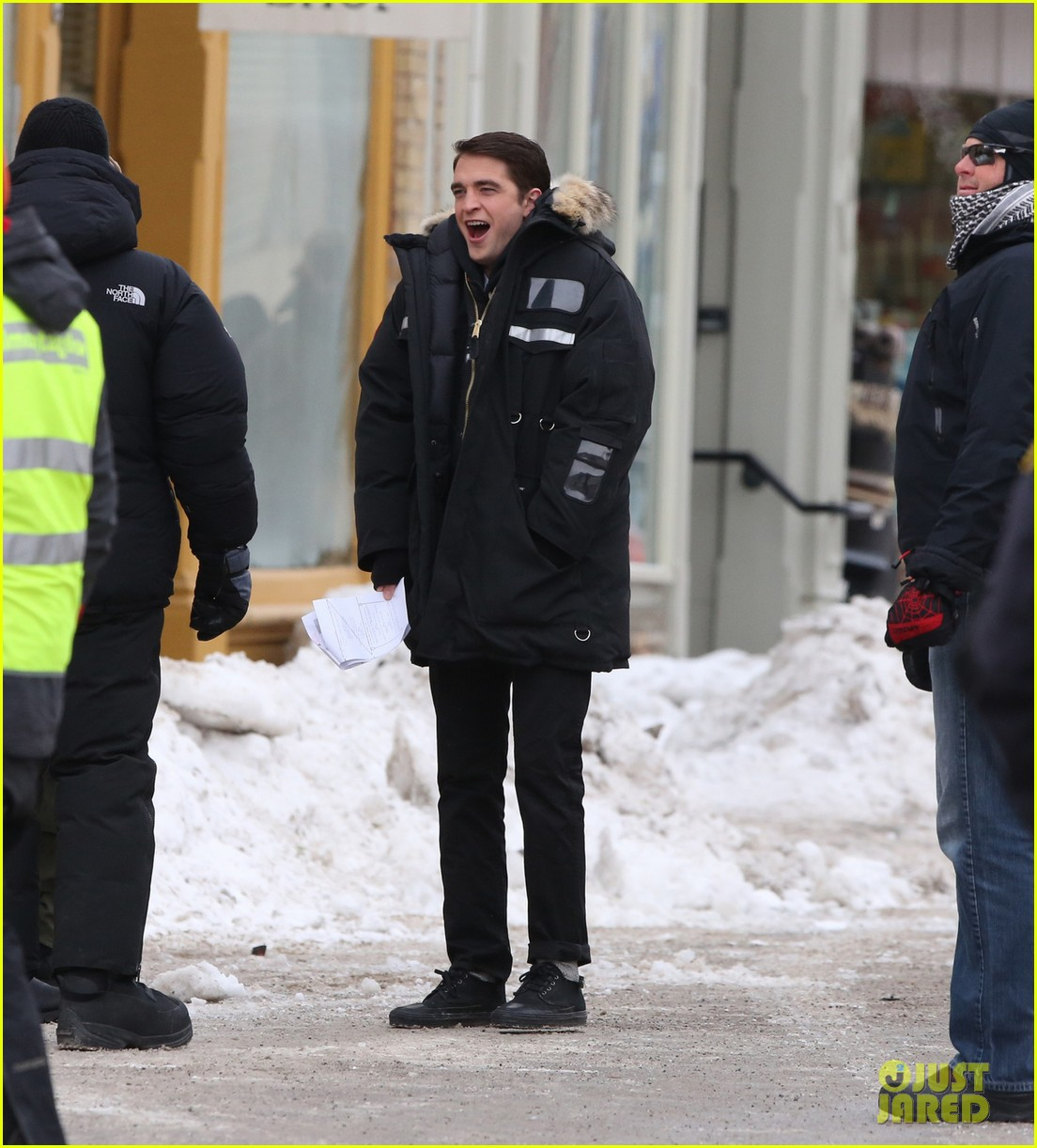 robert pattinson dane dehaan continue filming life in super cold canada 043065883