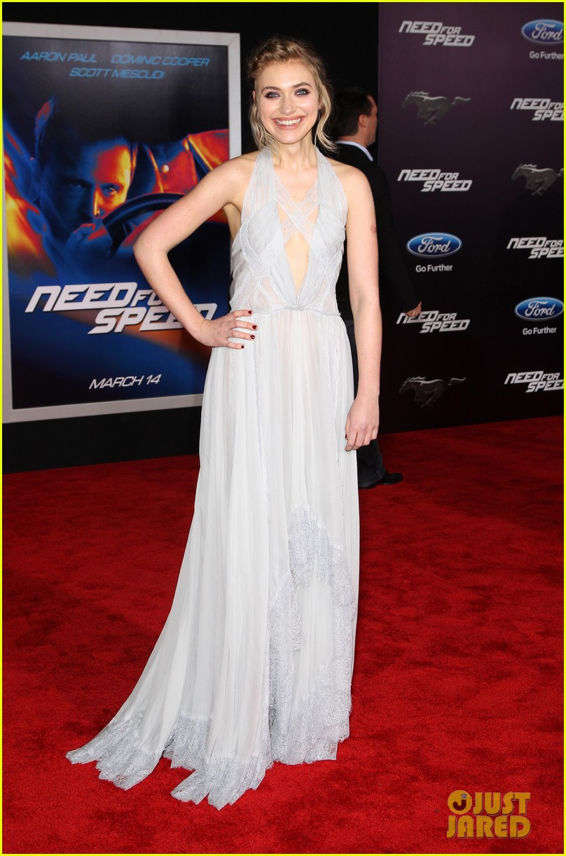 aaron paul imogen poots need for speed premiere 013067554