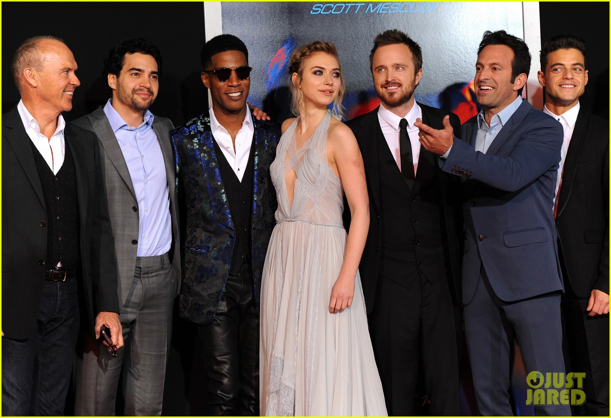 Aaron Paul Imogen Poots Need For Speed Premiere Photo