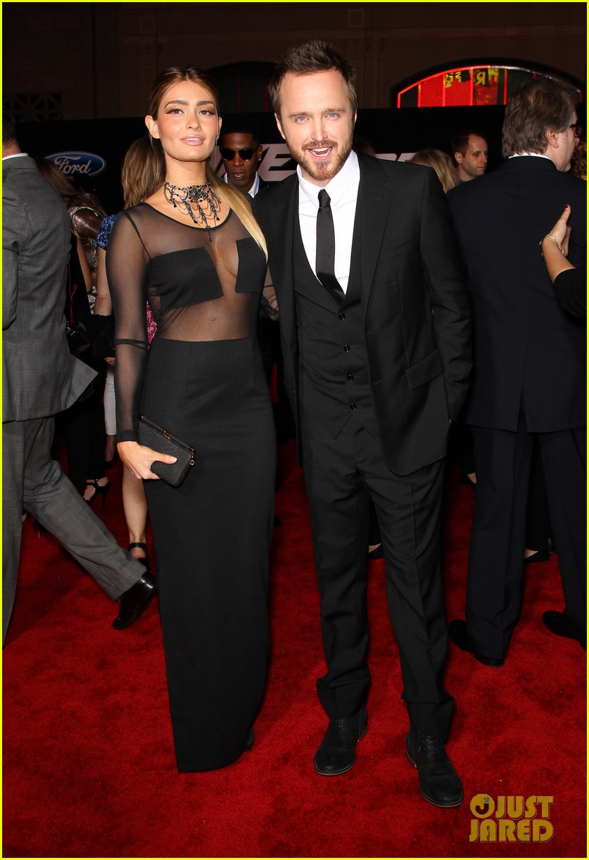 aaron paul imogen poots need for speed premiere 053067558