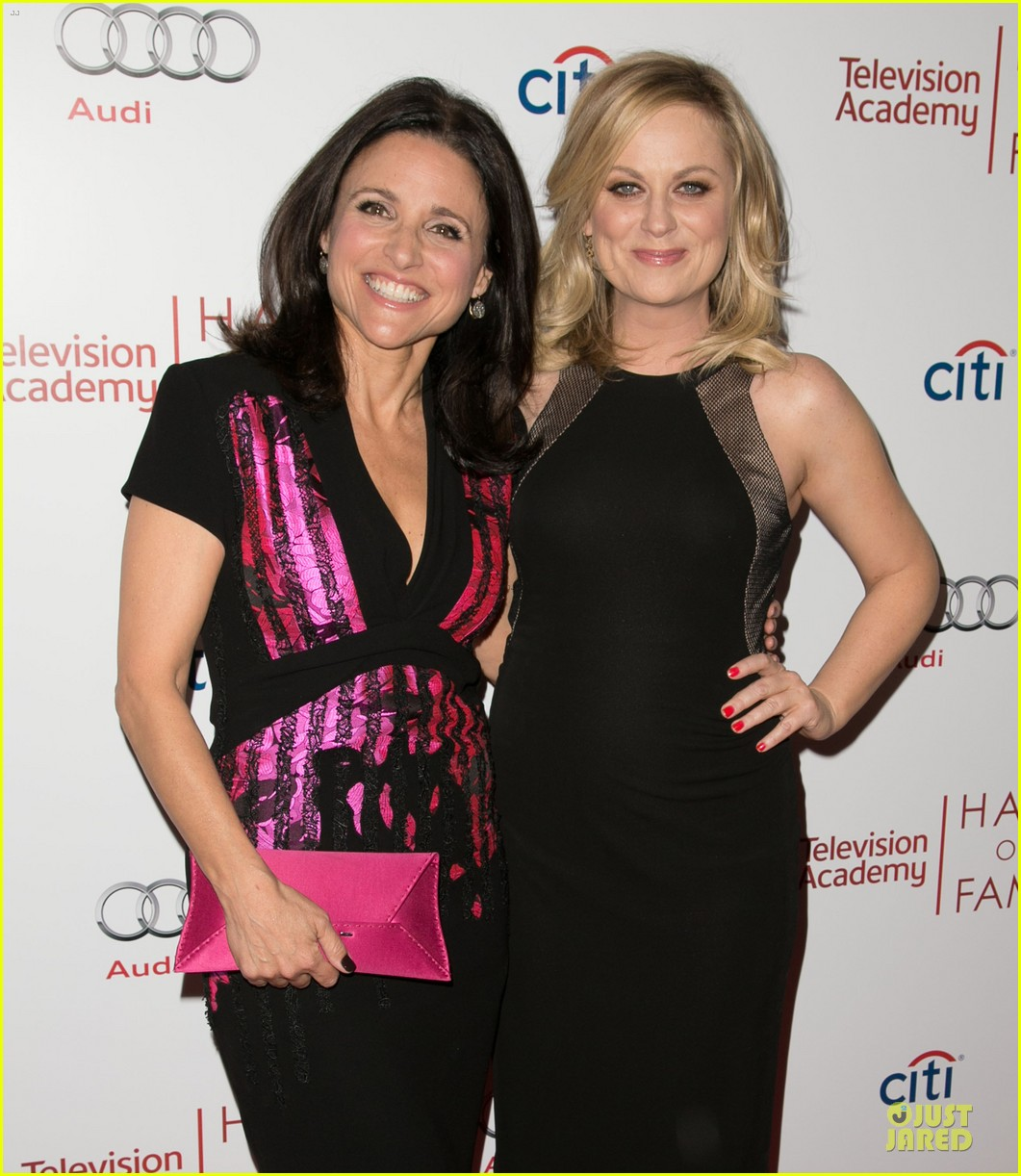 amy poehler julia louis dreyfus doll up for hall of fame gala 023070184