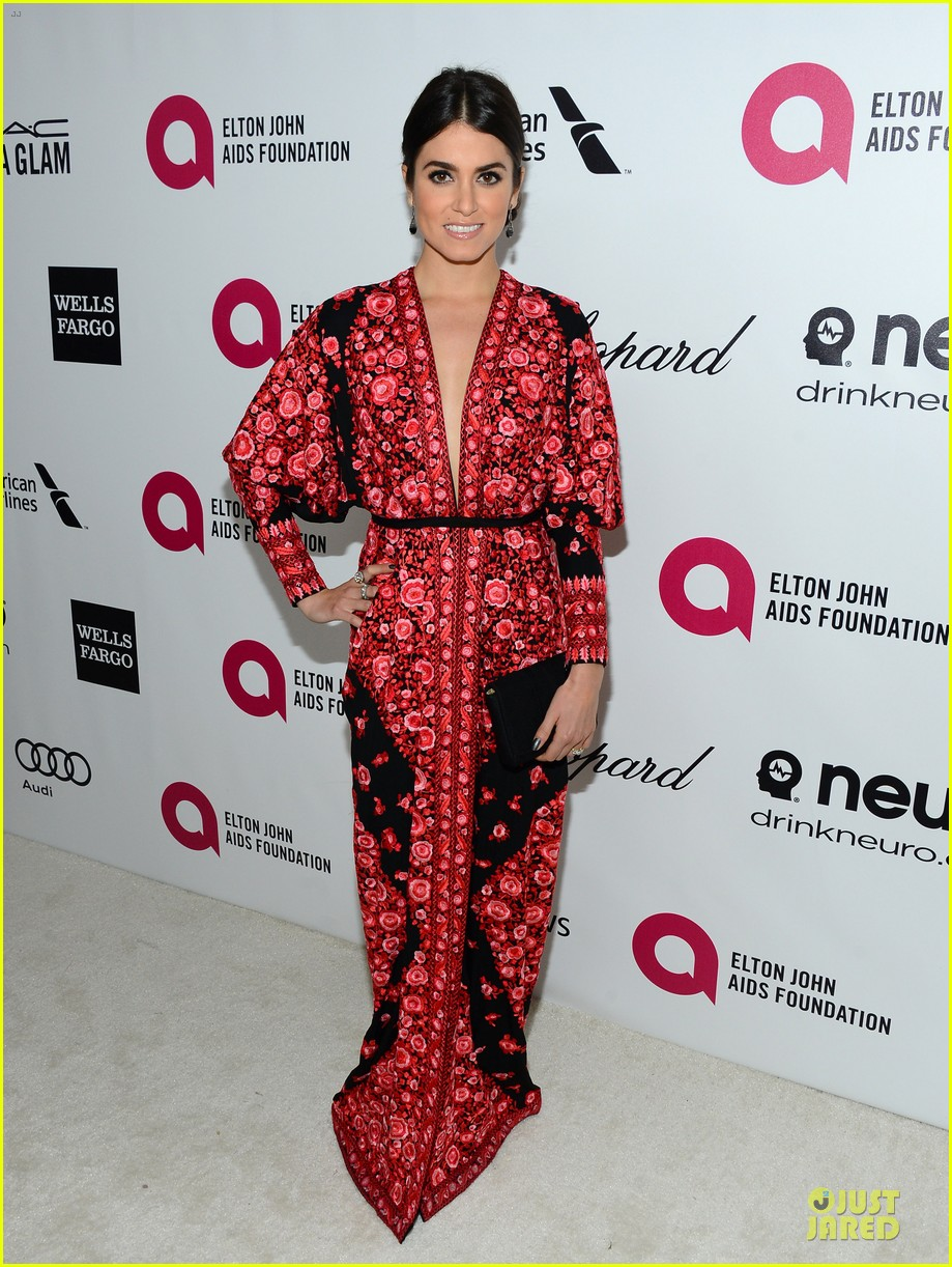 nikki reed melonie diaz rock red black at elton john oscars party 2014 013065058