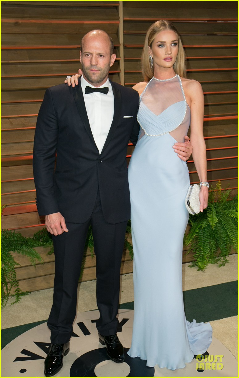 rosie huntington whiteley sheers it up at vanity fair oscar party 2014 with jason statham 053064445