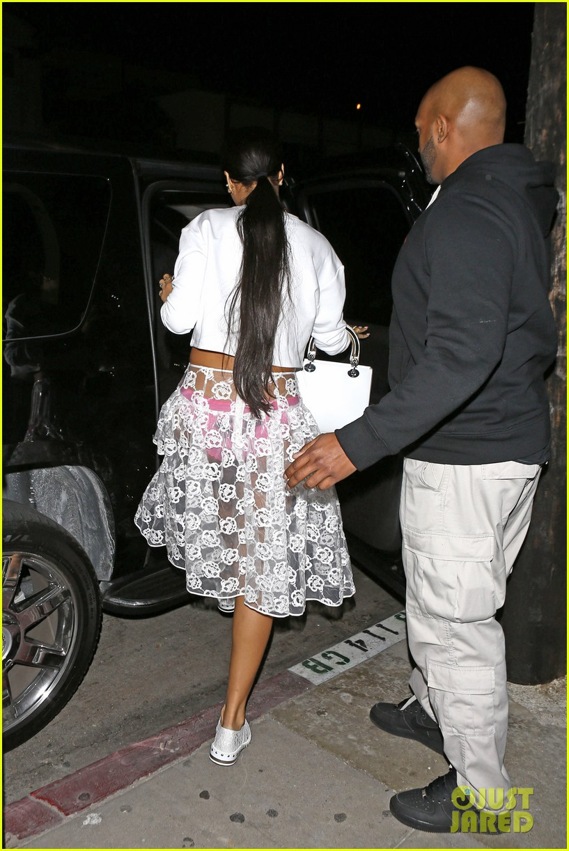 rihannas underwear is completely visible under her totally see thru skirt 183075927