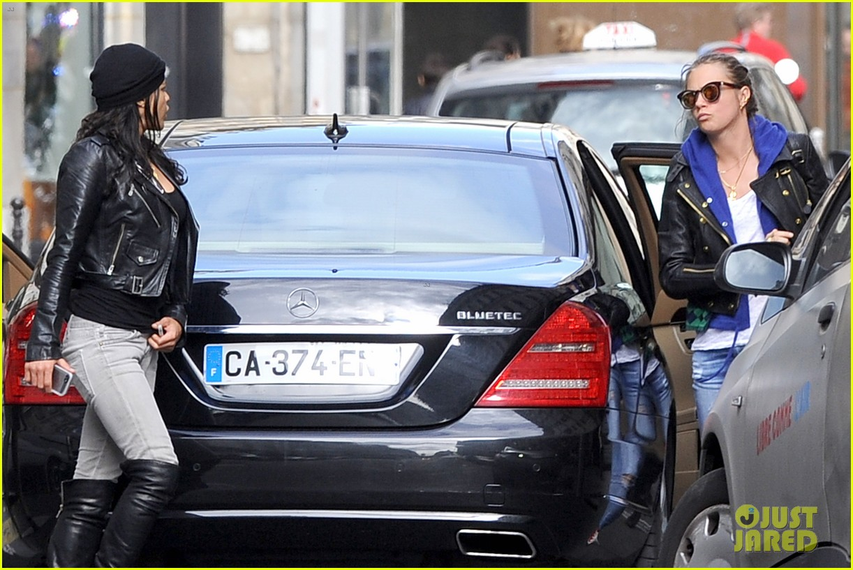 michelle rodriguez joins cara delevingne for paris fashion week fun 233065745