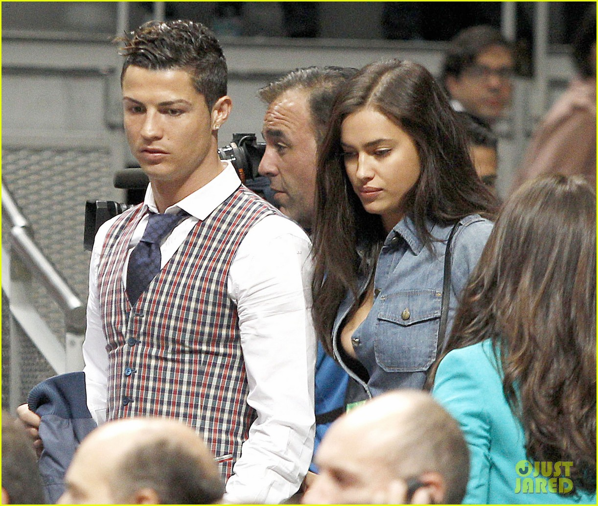 cristiano ronaldo irina shayk courtside couple 063075840