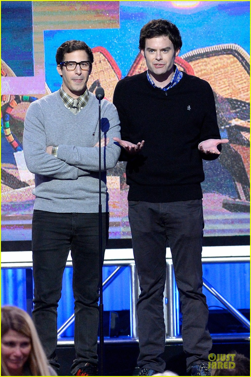 andy samberg bill hader expressive presenters at independent spirit awards 2014 043063068