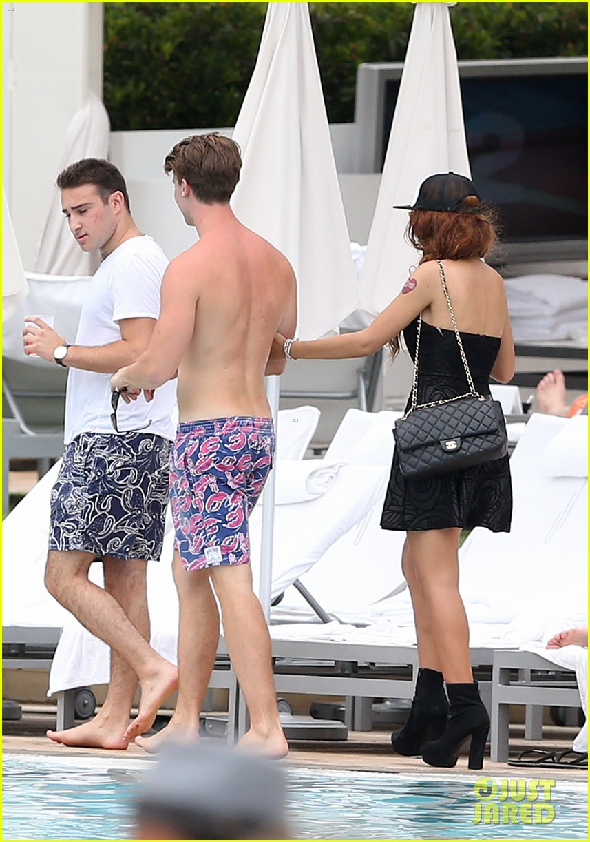 patrick schwarzenegger six pack abs miami spring break 113081575