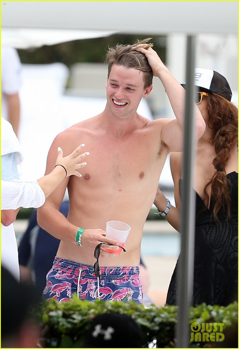 patrick schwarzenegger six pack abs miami spring break 173081581
