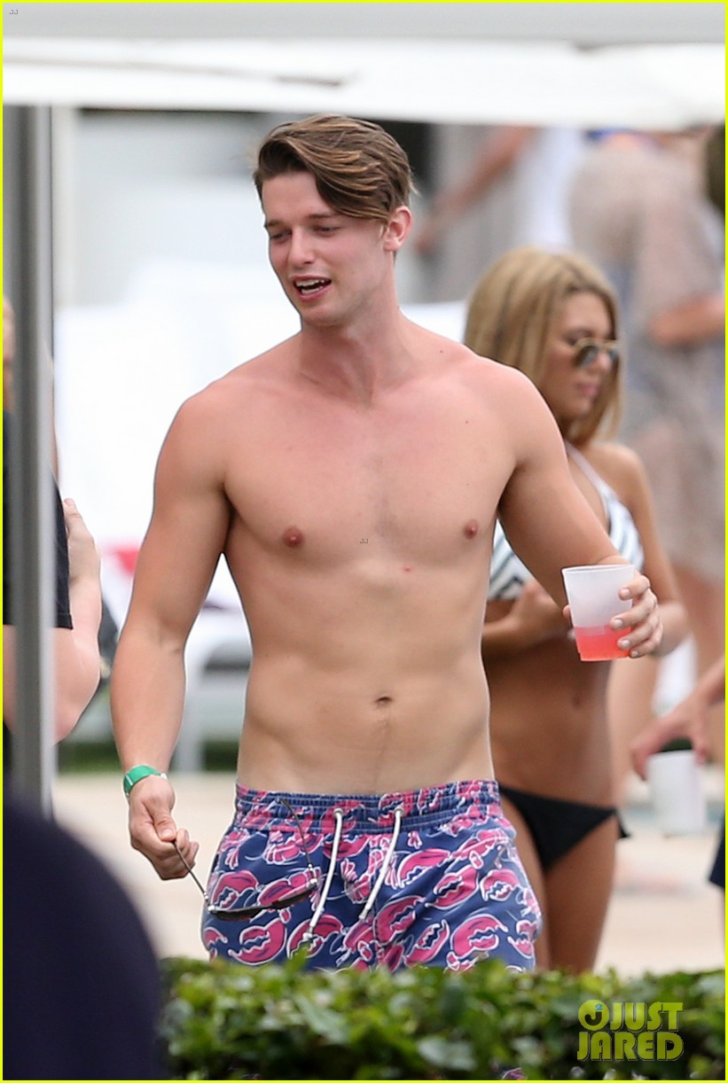 patrick schwarzenegger six pack abs miami spring break 203081584