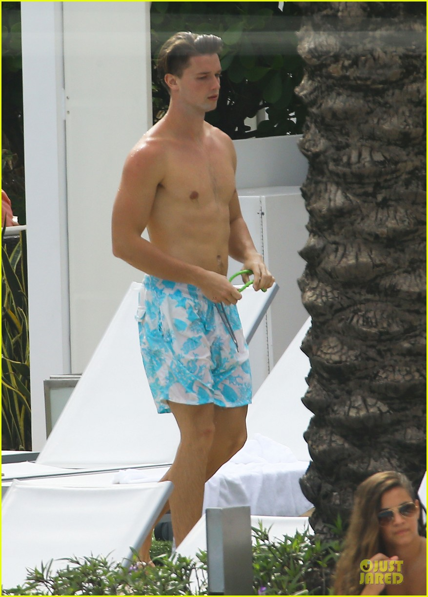 patrick schwarzenegger friday better with shirtless body 013080842