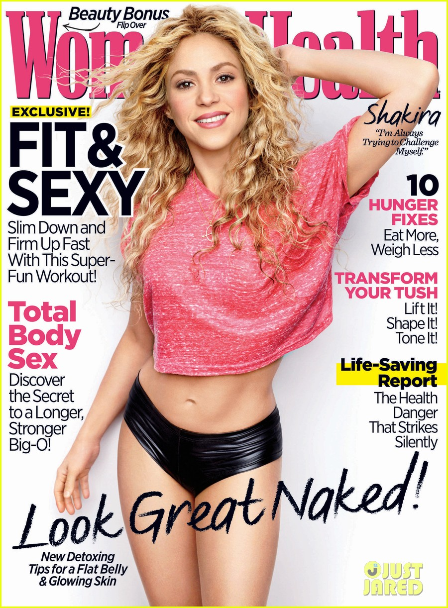 shakira shows her abs for womens health april 2014 02