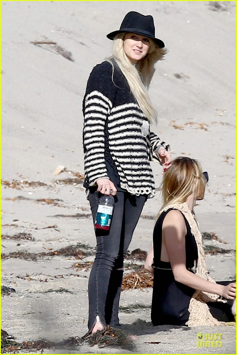ashlee simpson evan ross beach with diana ross 073080796
