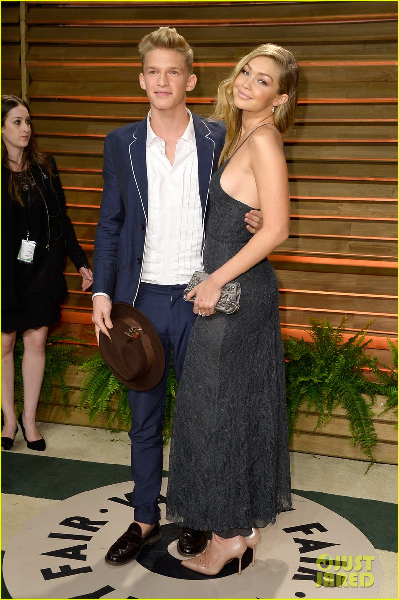 cody simpson girlfriend gigi hadid vanity fair oscars party 2014 013064818