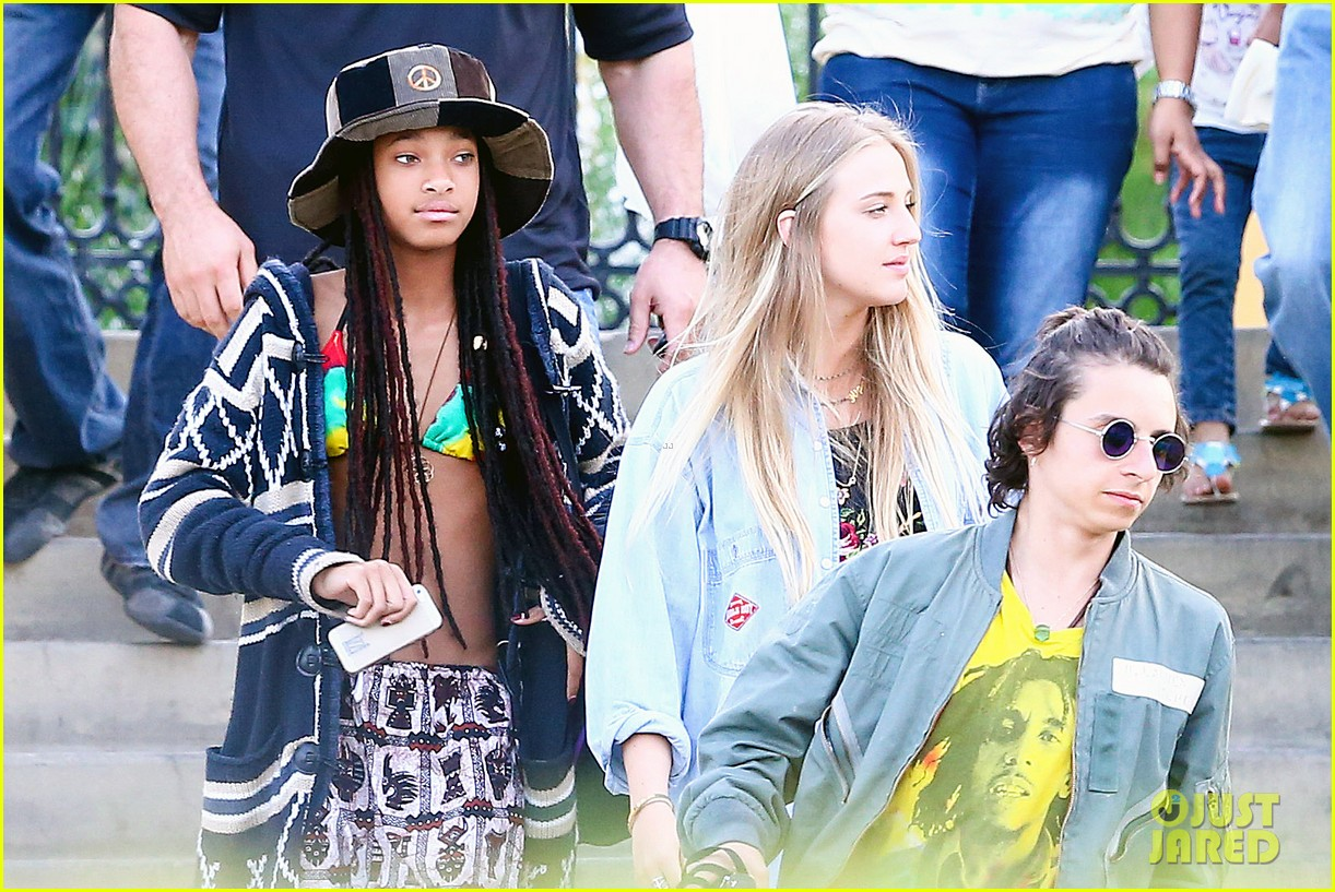 willow smith wears bikini top for sushi dinner 163069278