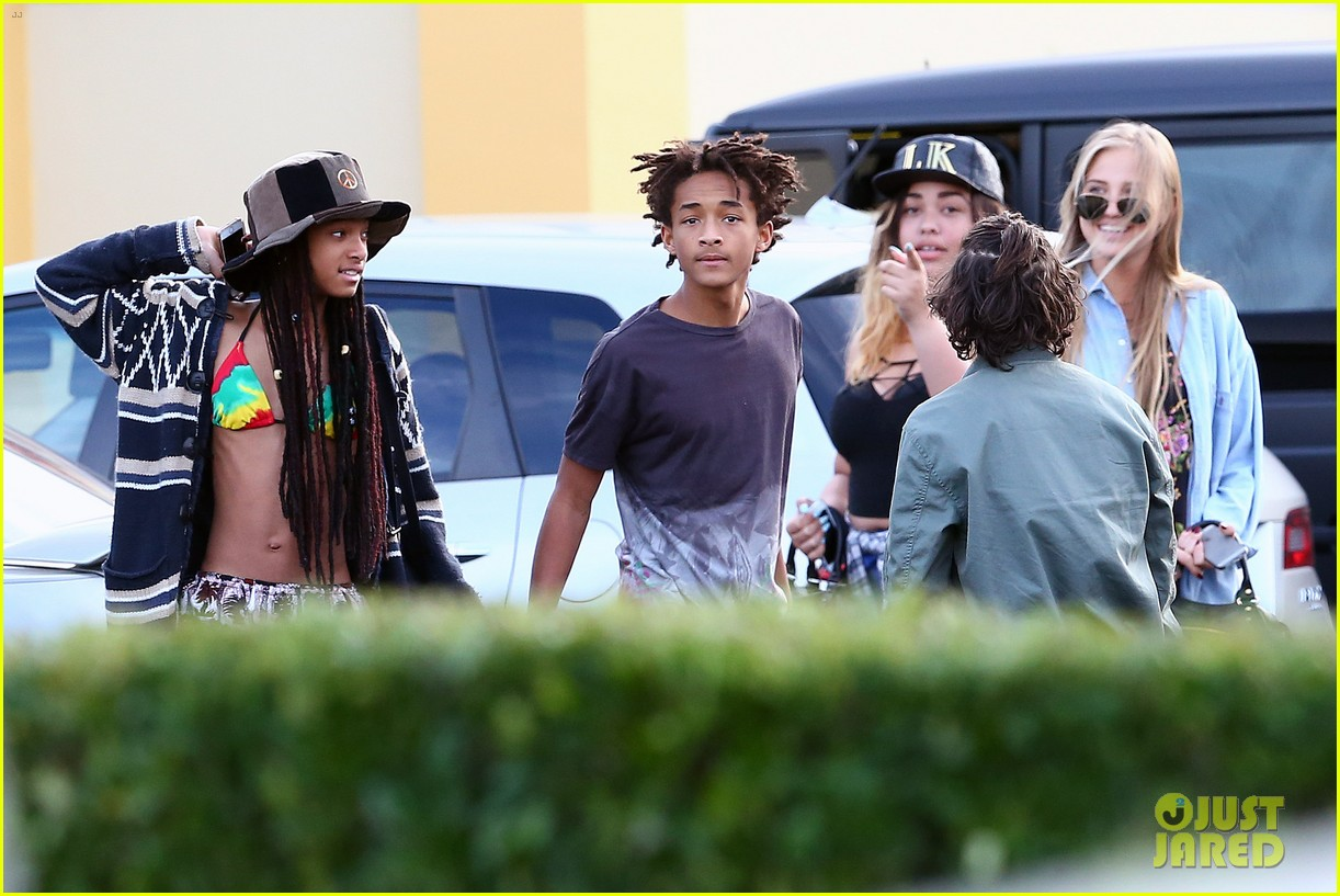 willow smith wears bikini top for sushi dinner 233069285