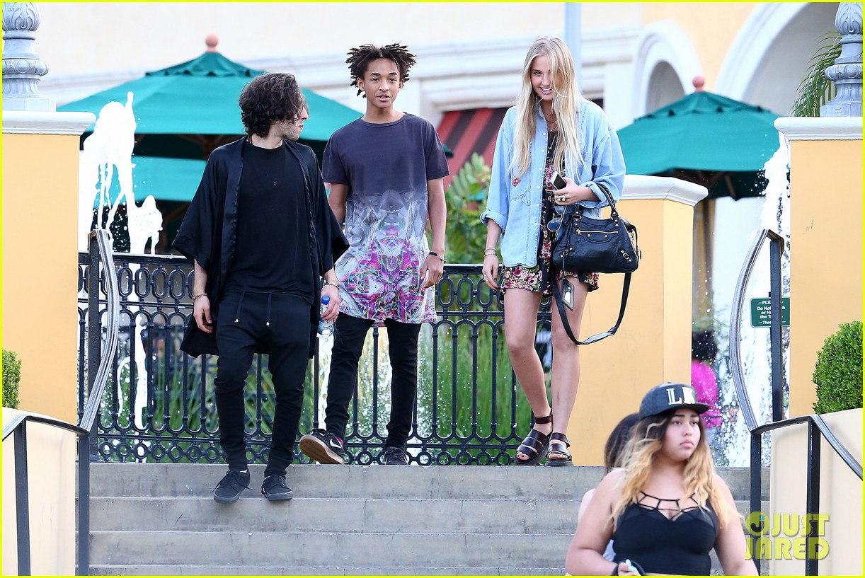 willow smith wears bikini top for sushi dinner 293069291