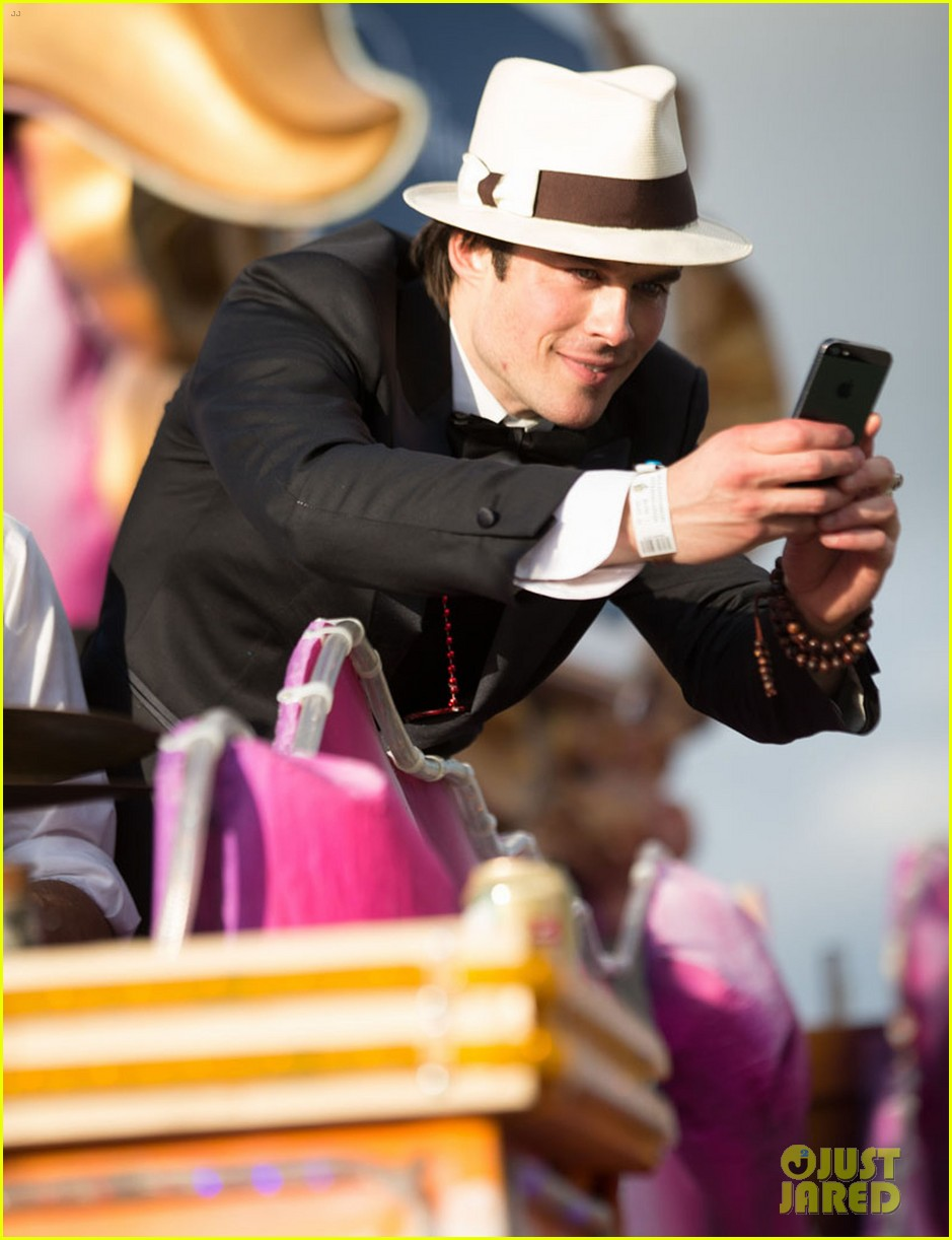 ian somerhalder norman reedus throw mardi gras beads in new orleans 163063300