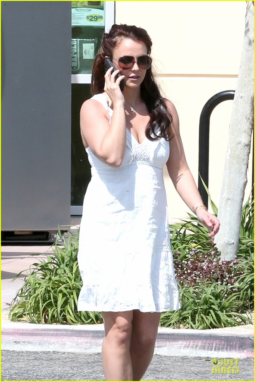britney spears white after jamie lynn wedding 043076137