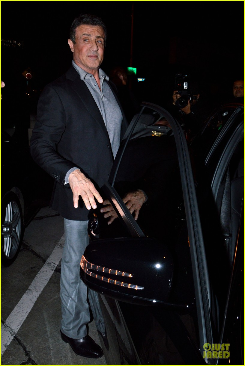 jason statham sylvester stallone dinner at craigs 053070110