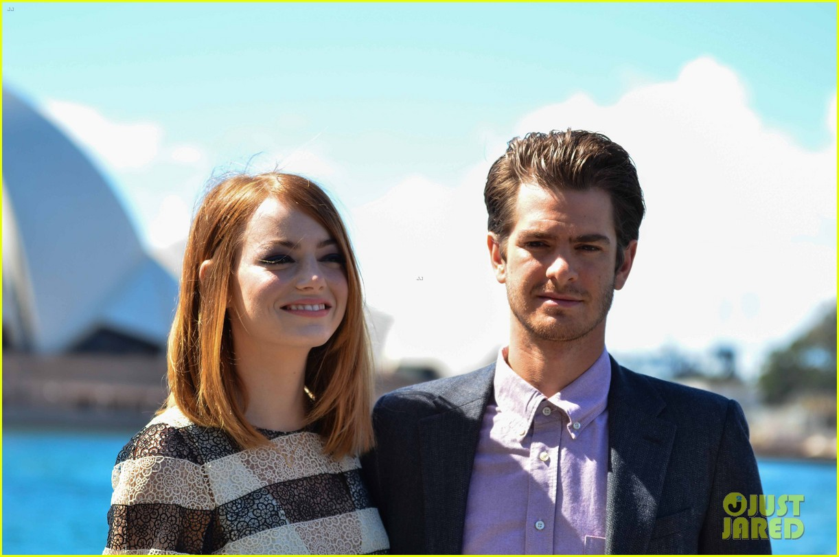 emma stone andrew garfield spider man sydney photo call 143075030