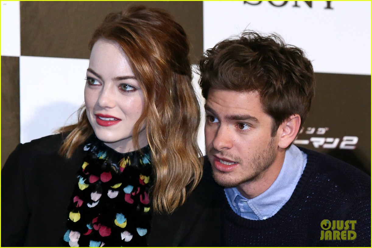 emma stone andrew garfield hit tokyo for amazing spider man 2 press conference 103082083