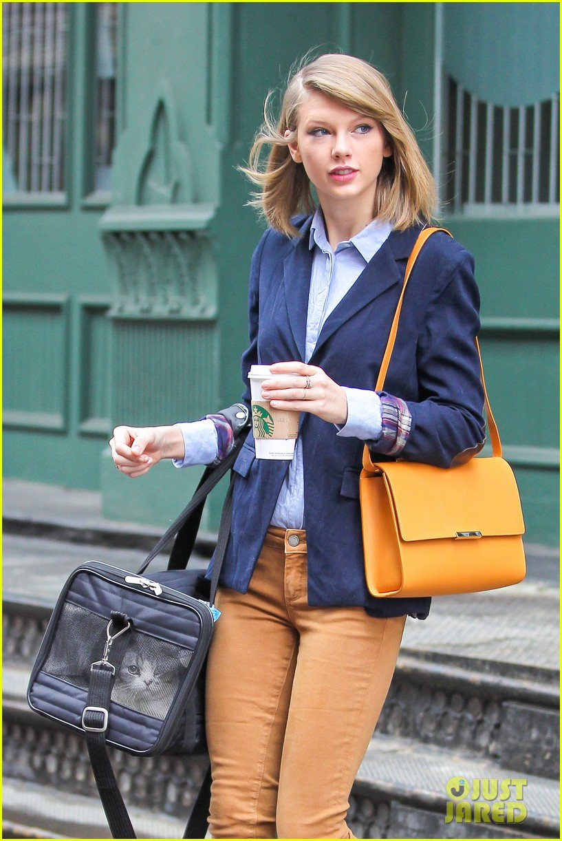 taylor swift brings her cat meredith around nyc in travel carrier 07