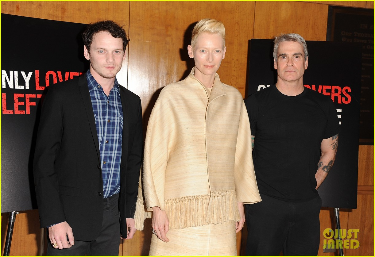 tilda swinton anton yelchin only lovers left alive screening 083069771