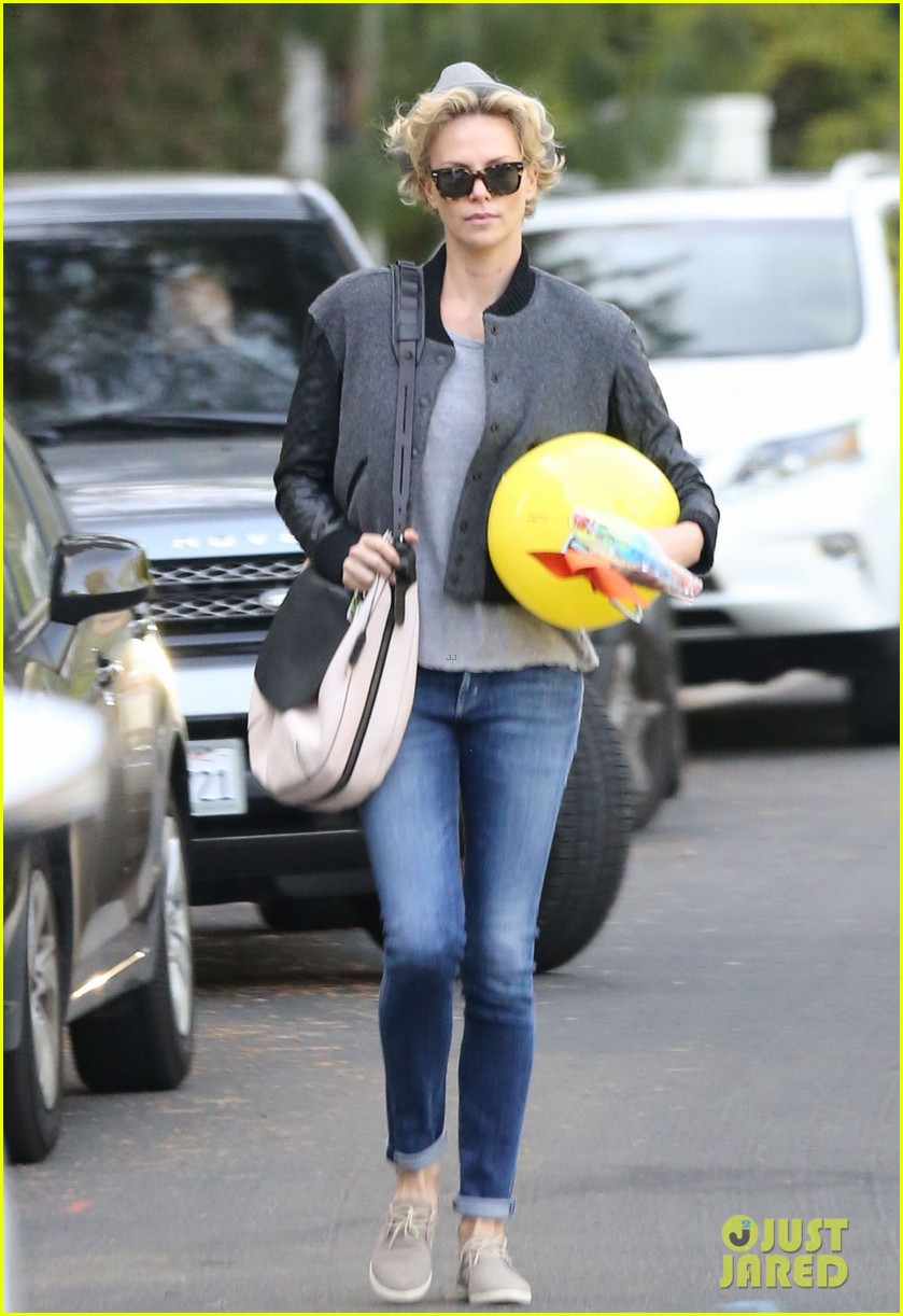 charlize theron attends party while 113076879