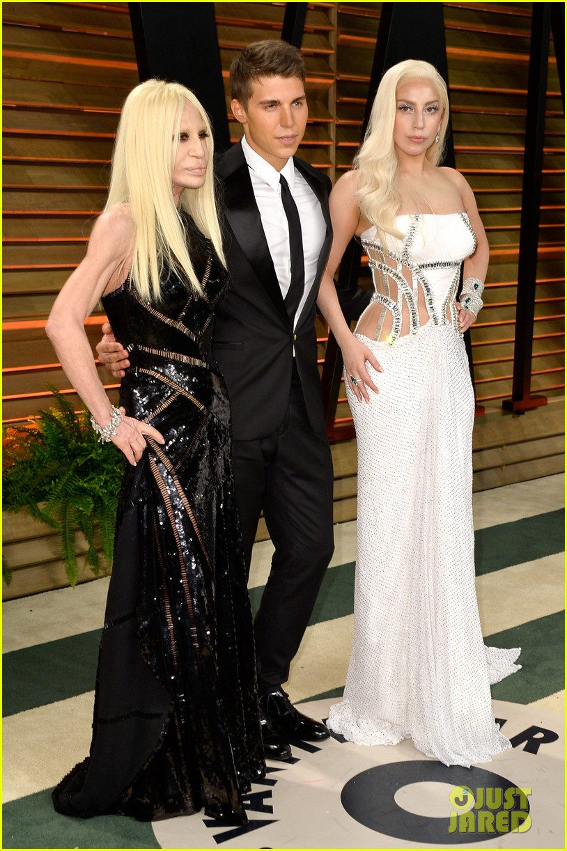 donatella versace vanity fair oscars party 2014 with lady gaga nolan gerard funk 013064776