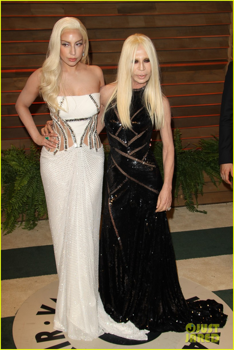 donatella versace vanity fair oscars party 2014 with lady gaga nolan gerard funk 113064786