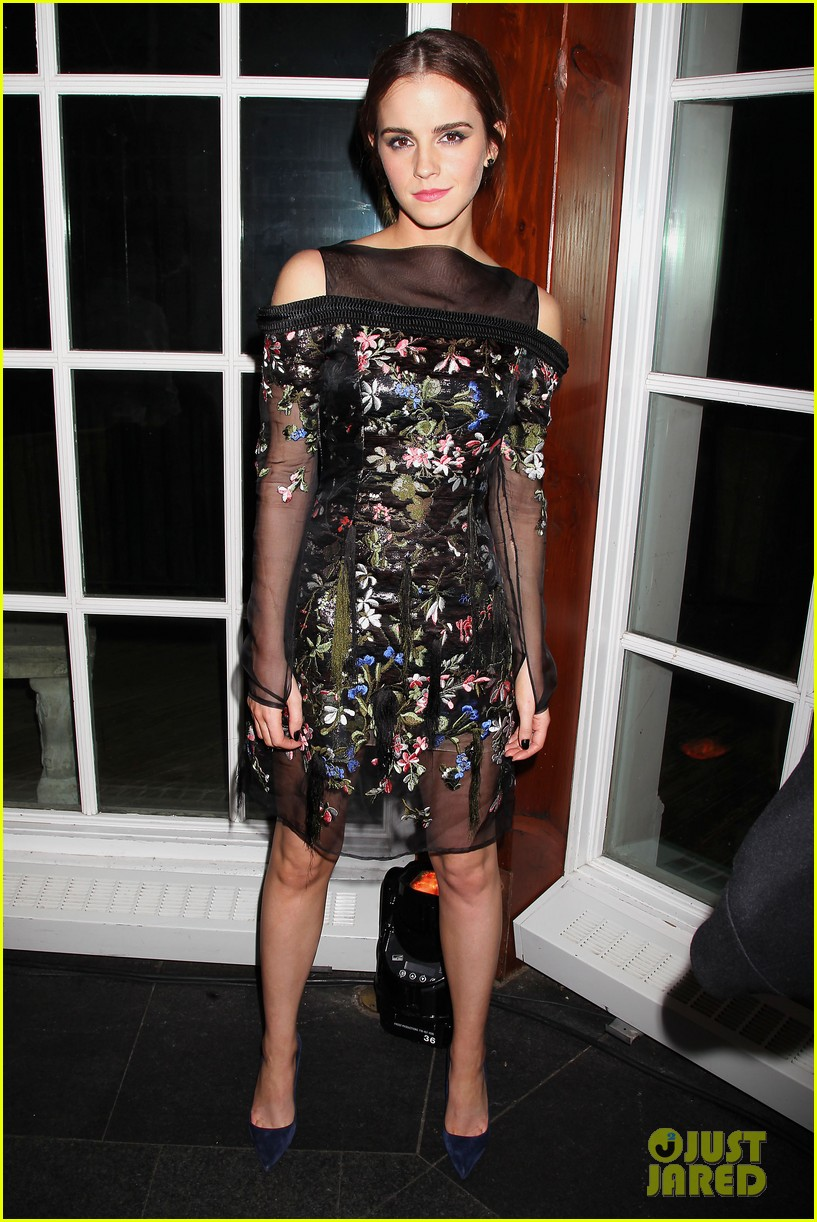 emma watson floral fierce noah nyc after party 123079352