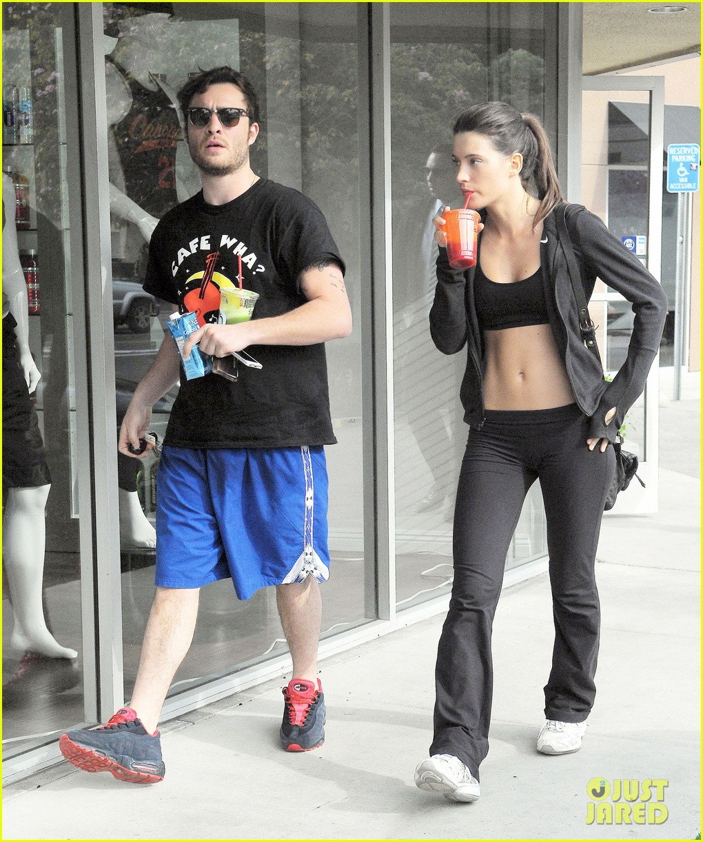 ed westwick hits the gym with mystery gal with hot body 093070709