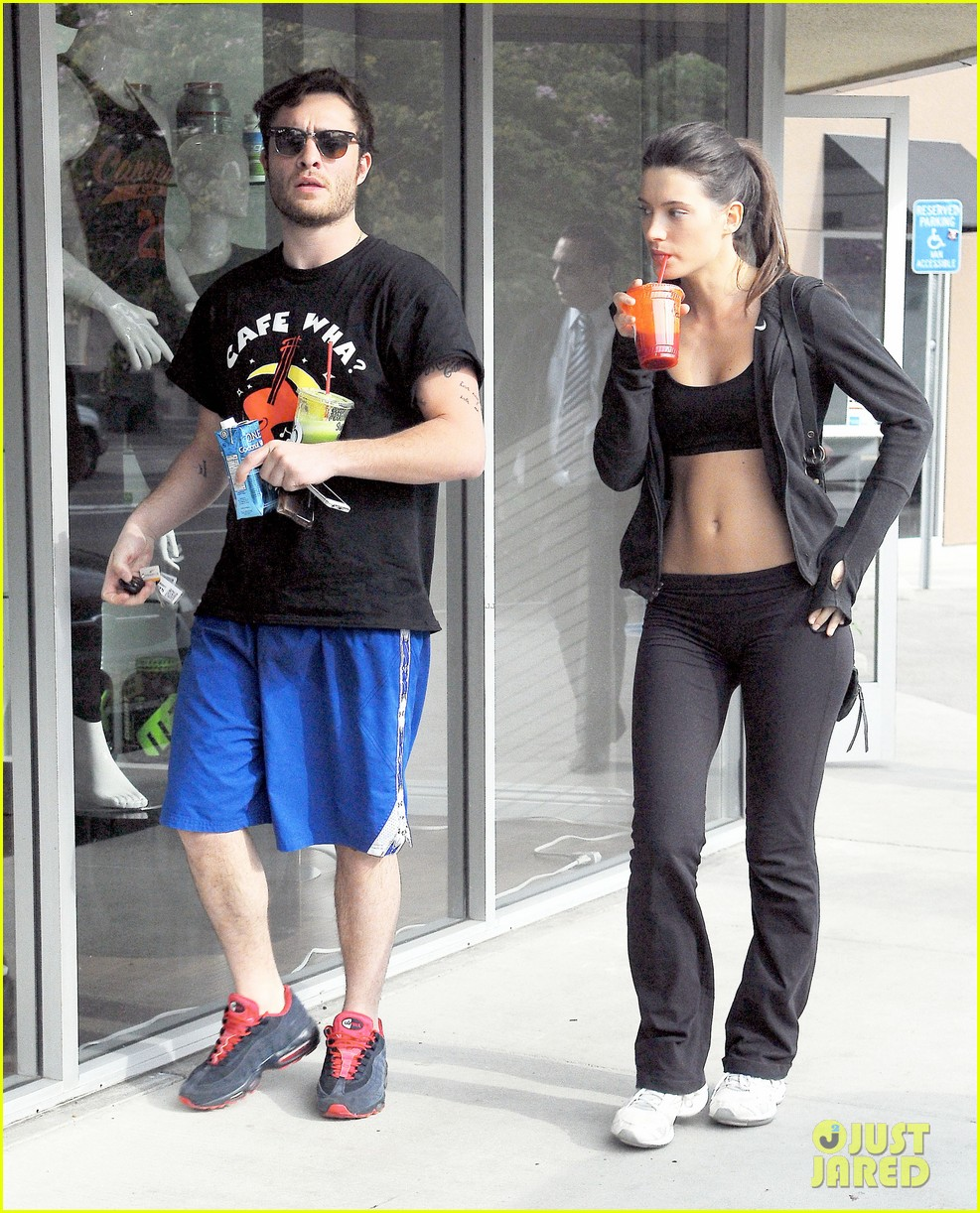 ed westwick hits the gym with mystery gal with hot body 153070715