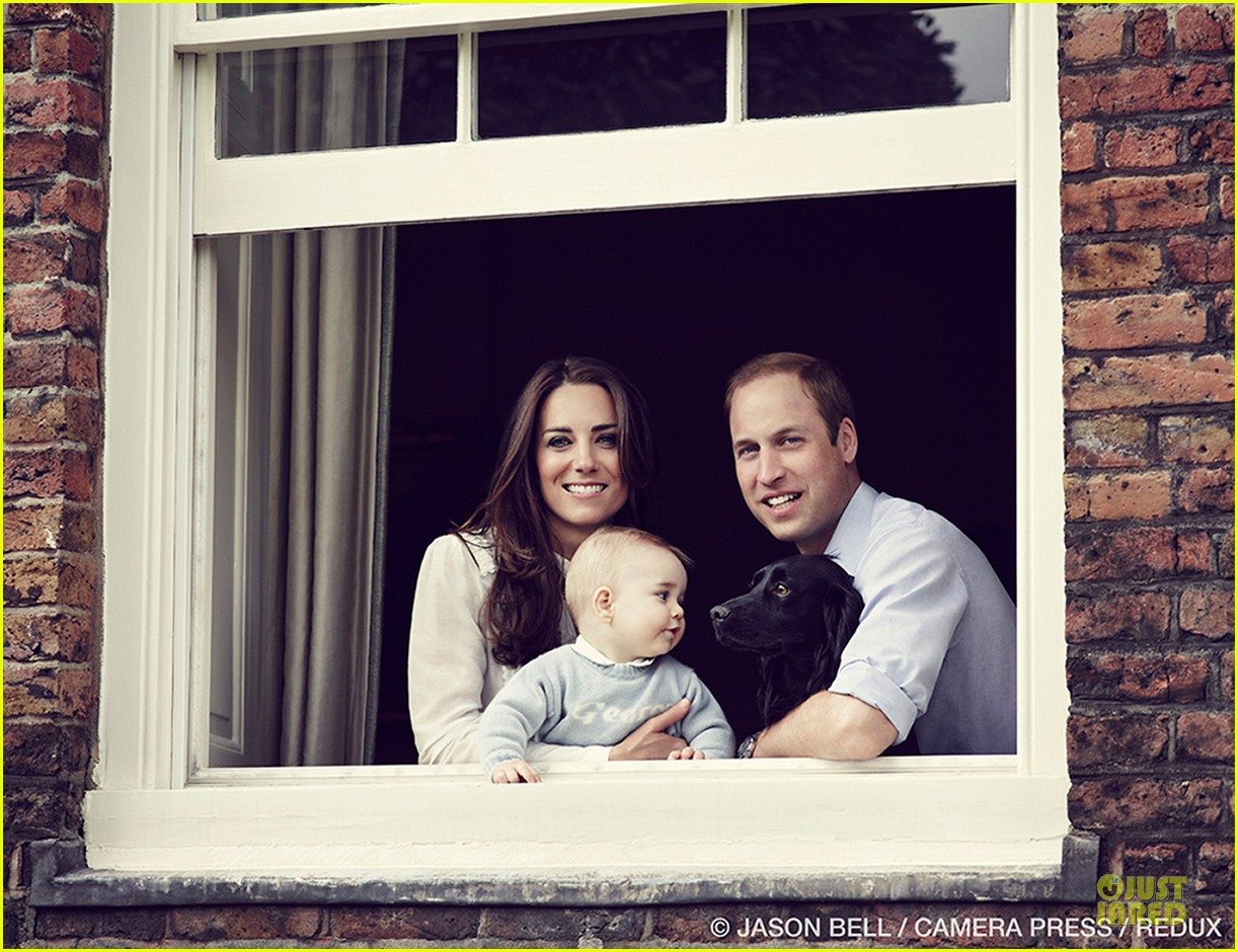 prince william kate middleton smile with george 053081229