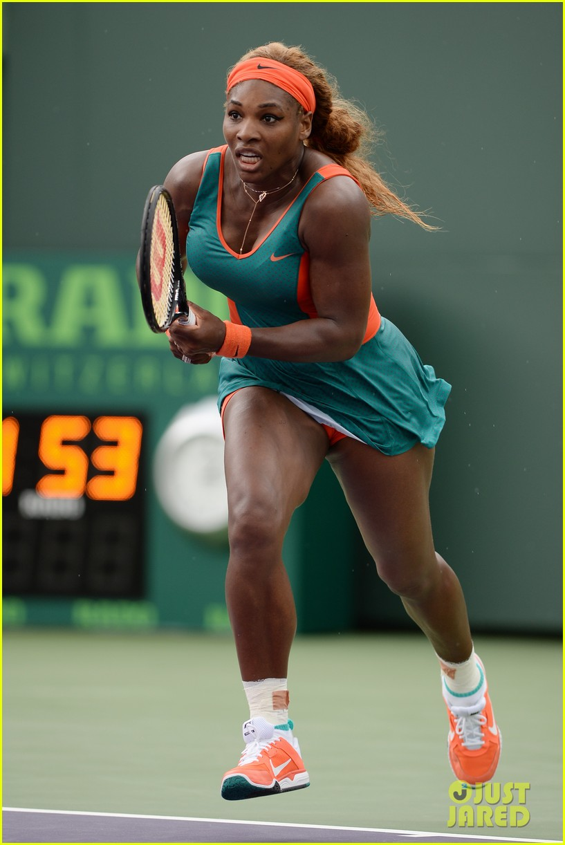 serena williams jacked physique helps her advance at sony open 09