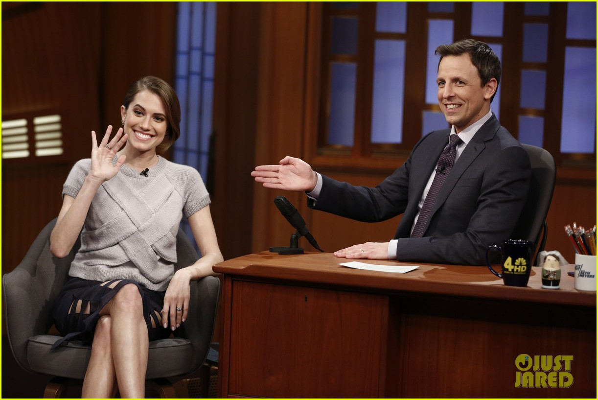 allison williams talks engagement on late night with seth meyers 04