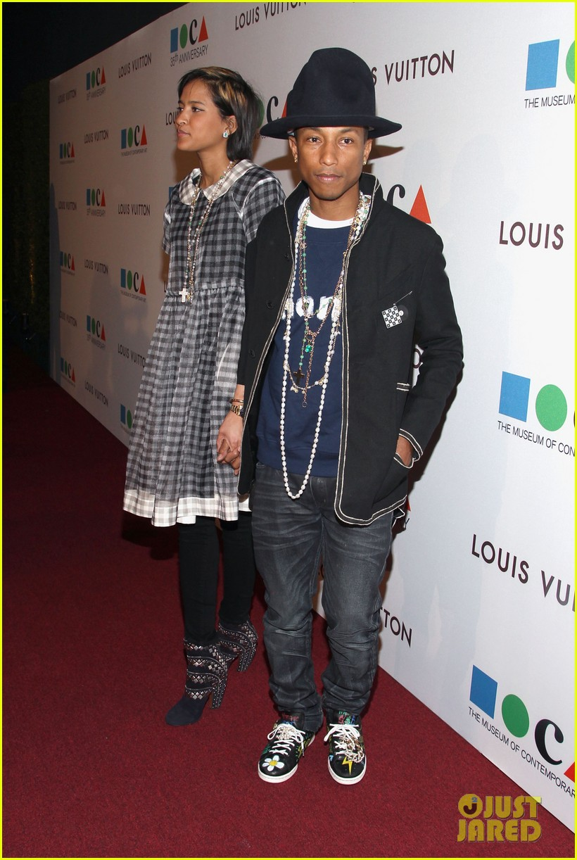 pharrell williams wife helen attend star studded moca gala 053081628